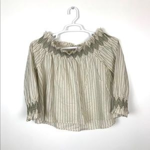 Anthropologie Vanessa Virginia Smocked Blouse M